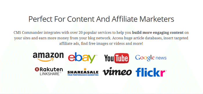 cms commander for content and affiliate marketers