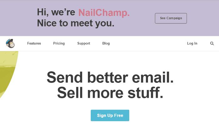 Mailchimp-Homepage