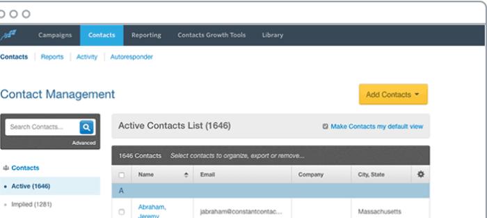 ConstantContact-Contact Management