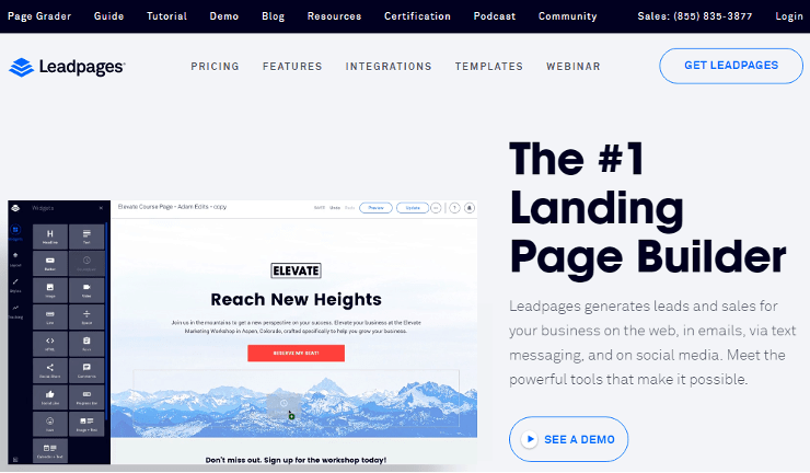 Full Specification Leadpages